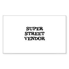 SUPER STREET VENDOR Rectangle Decal