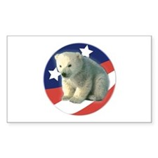 Vote for Polar Bears Rectangle Decal