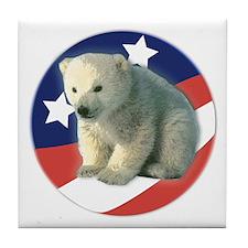 Vote for Polar Bears Tile Coaster