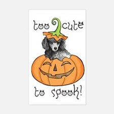 Halloween Poodle Rectangle Decal