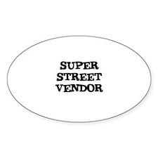 SUPER STREET VENDOR Oval Decal