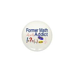 Math Addict Mini Button (10 pack)
