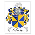 Salomoni Family Crest Small Poster