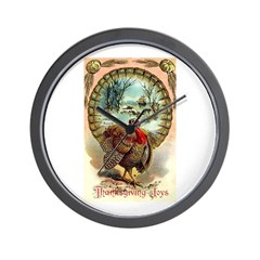 Thanksgiving Joys Wall Clock