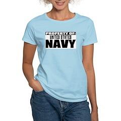 Property of US Navy Women's Pink T-Shirt