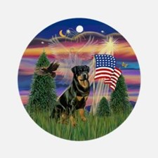 Blessed /Rottweiler Ornament (Round)