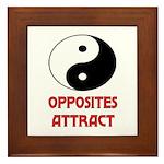 OPPOSITES ATTRACT Framed Tile