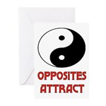 OPPOSITES ATTRACT Greeting Cards (Pk of 10)