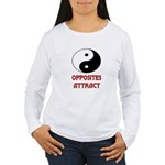 OPPOSITES ATTRACT Women's Long Sleeve T-Shirt