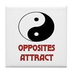 OPPOSITES ATTRACT Tile Coaster