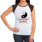 OPPOSITES ATTRACT Women's Cap Sleeve T-Shirt