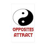 OPPOSITES ATTRACT Rectangle Sticker 50 pk)