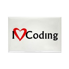 I Heart Coding Rectangle Magnet