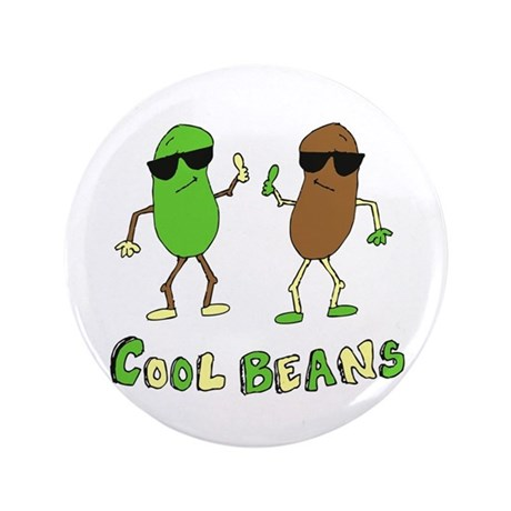 """Cool Beans 3.5"""" Button (100 pack)"""