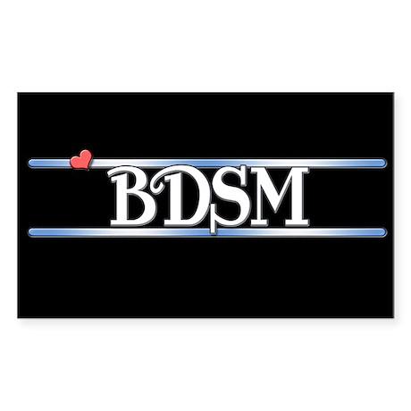 BDSM Sticker (Rectangle)