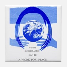 Peace Poster Tile Coaster