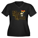 Bier Mich Women's Plus Size V-Neck Dark T-Shirt