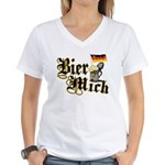 Bier Mich Women's V-Neck T-Shirt
