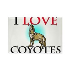 I Love Coyotes Rectangle Magnet