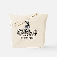 Funny Confucius slogan Tote Bag