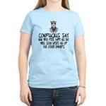 Funny Confucius slogan Women's Light T-Shirt