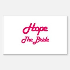 Hope - The Bride Rectangle Decal