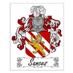 Sances Family Crest Small Poster