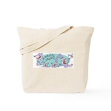 Manic Rabbit canvas tote bag