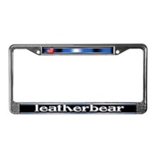 Leatherbear License Plate Frame