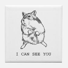 Suspicious Dwarf Hamster Tile Coaster