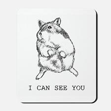 Suspicious Dwarf Hamster Mousepad