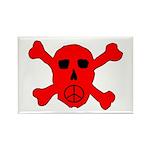Peace Skull Rectangle Magnet