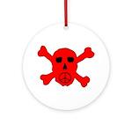 Peace Skull Ornament (Round)