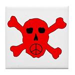 Peace Skull Tile Coaster