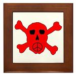 Peace Skull Framed Tile