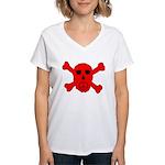 Peace Skull Women's V-Neck T-Shirt