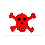 Peace Skull Rectangle Sticker