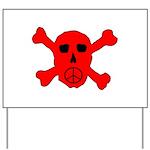 Peace Skull Yard Sign