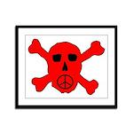 Peace Skull Framed Panel Print