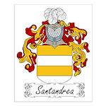 Santandrea Family Crest Small Poster