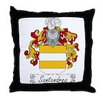 Santandrea Family Crest Throw Pillow