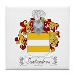 Santandrea Family Crest Tile Coaster