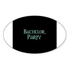 Green Morpheus Bachelor Party Oval Decal