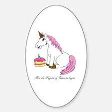 Funny Unicorn birthday Decal