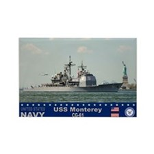 USS Monterey CG-61 Rectangle Magnet