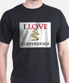 I Love Copperheads T-Shirt