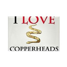 I Love Copperheads Rectangle Magnet