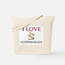 I Love Copperheads Tote Bag