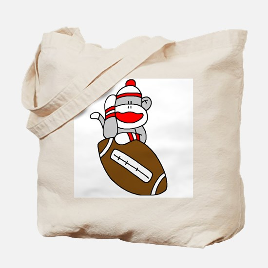 Sock Monkey and Football Tote Bag