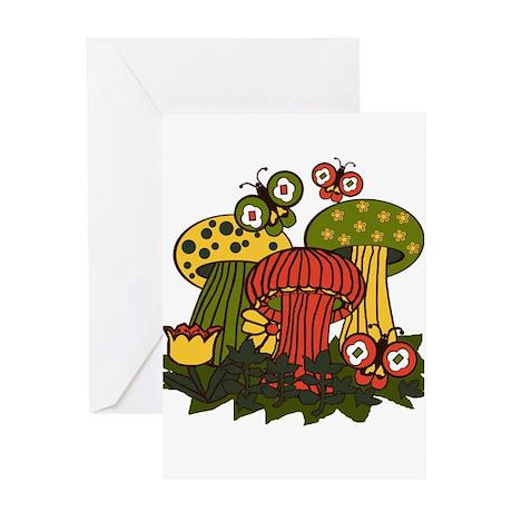 Magic Mushrooms Greeting Card